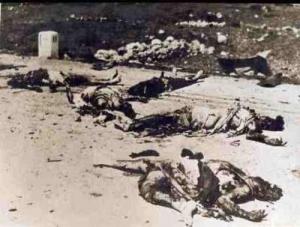 Pembantaian Zionis terhadap rakyat Palestina di Deir Yassin (foto: AV)