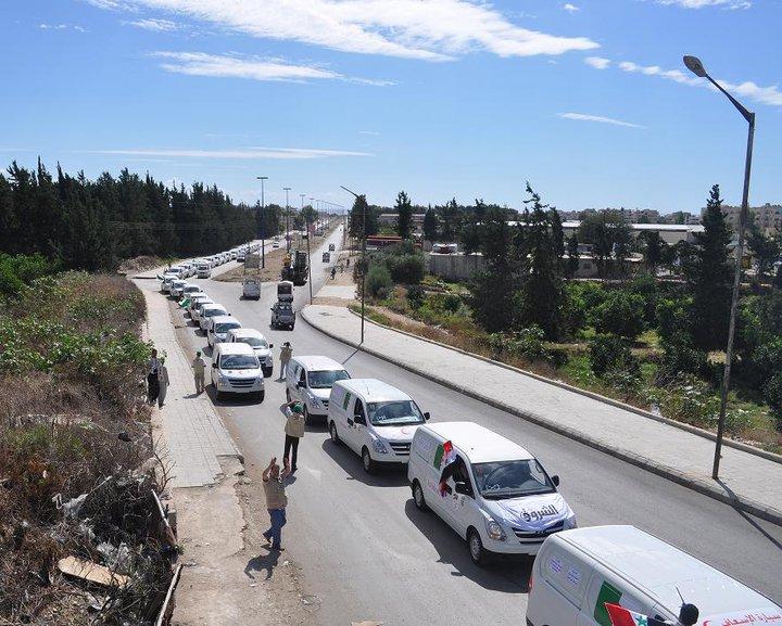 Menanti: Rombongan kemanusiaan dan solidaritas Viva Palestina masih tertahan di Latakia, Suriah. Foto: PIC