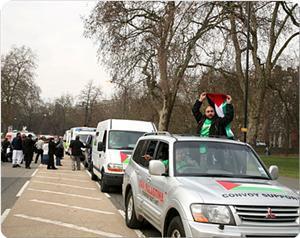'Jalan Menuju Harapan': Rombongan solidaritas Palestina 'Road to Hope' dari Inggris memasuki Maroko. Foto: Road to Hope