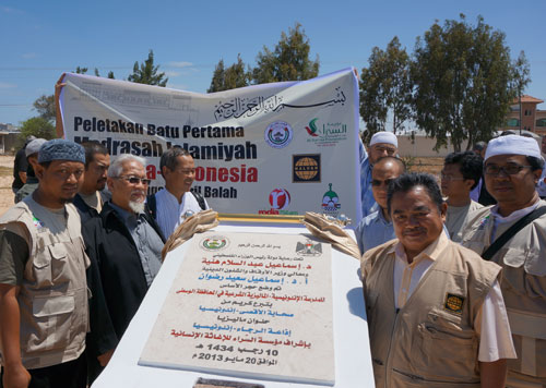 Ini lho amanah kita, langsung di bawah arahan PM Ismail Haniyah. foto: Sahabat Al-Aqsha