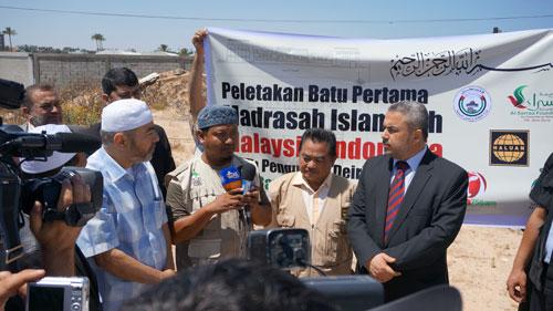 Ketua Umum Sahabat Al-Aqsha memberi sambutan. foto: Sahabat Al-Aqsha