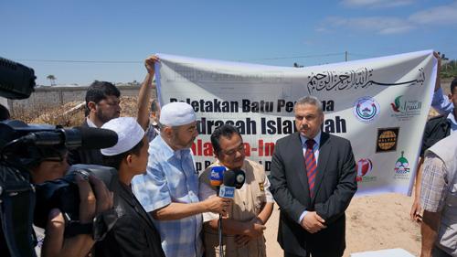 Wakil HALUAN Palestina memberi kata sambutan. foto: Sahabat Al-Aqsha