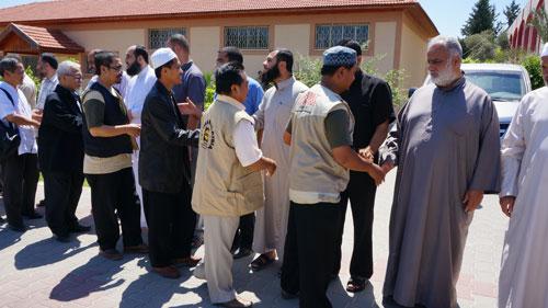 Untuk pertama kalinya bertemu saudara-saudara yang selalu di hati, semata-mata karena aqidah tauhid. foto: Sahabat Al-Aqsha