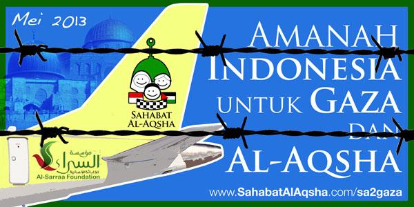 Banner resmi tim Sahabat Al-Aqsha ke Gaza kali ini di bulan Mei 2013 (SA2Gaza5). Desain: SA2Gaza5