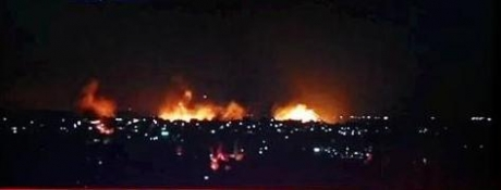 Kondisi Jalur Gaza saat dibom kemarin. Telah ada 264 warga Palestina yang dibunuh penjajah zionis 'Israel'. Foto: IMEMC