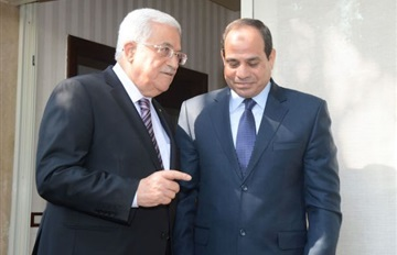 Mahmoud Abbas dan Abdel Fatah El-Sisi. foto: EuroAsia News
