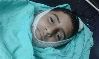 Bahaa Samir Badir, 13 tahun, ditembak di dada dari jarak dekat oleh serdadu Zionis yang serang desanya Beit Laqiya di Tepi Barat Palestina, tadi malam (16/10). Foto: Maan News Agency