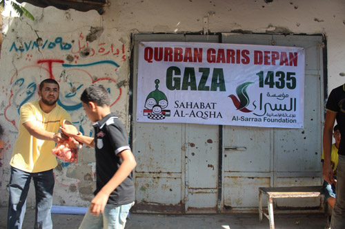 Salam untuk keluarga ya. Foto: Sahabat Al-Aqsha/Al-Sarraa Foundation