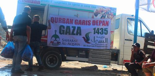 Diangkut satu demi satu. Foto: Sahabat Al-Aqsha/Al-Sarraa Foundation