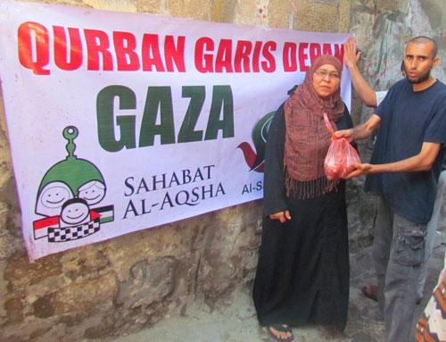 Indonesia itu jauh, kok masih ingat kita? Foto: Sahabat Al-Aqsha/Al-Sarraa Foundation