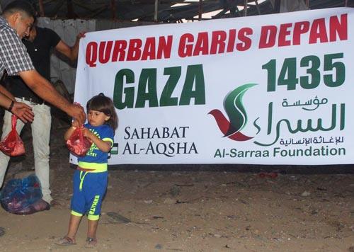 Ya, ini cinta yang pernah menggetarkan dada Ibrahim saat menyayangi Ismail. Foto: Sahabat Al-Aqsha/Al-Sarraa Foundation