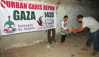 Nggak usah ragu Dik, qurban ini dikirimkan dengan paket ikhlas 100%. Foto: Sahabat Al-Aqsha/Al-Sarraa Foundation