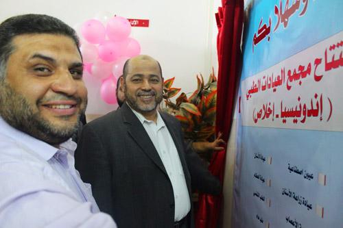 Dr Musa Abu Marzuq, Wakil Kepala Biro Politik Hamas resmikan Poliklinik 'Indonesia Ikhlas'. Foto: Sahabat Al-Aqsha