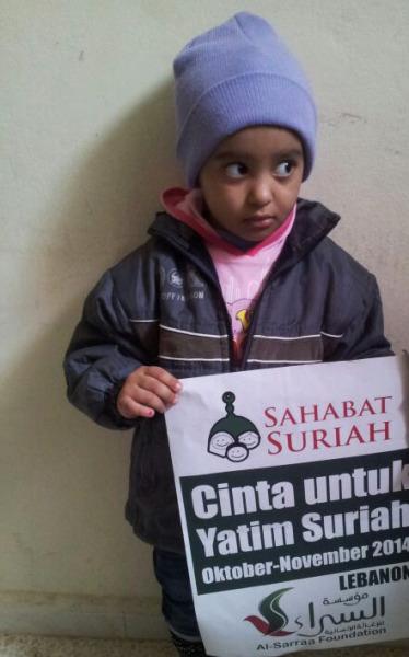 Anak Yatim Syuhada Suriah yang kita cintai dan menjadi amanah kita sejak Oktober 2013. Foto: Sahabat Suriah | Al-Sarraa Foundation