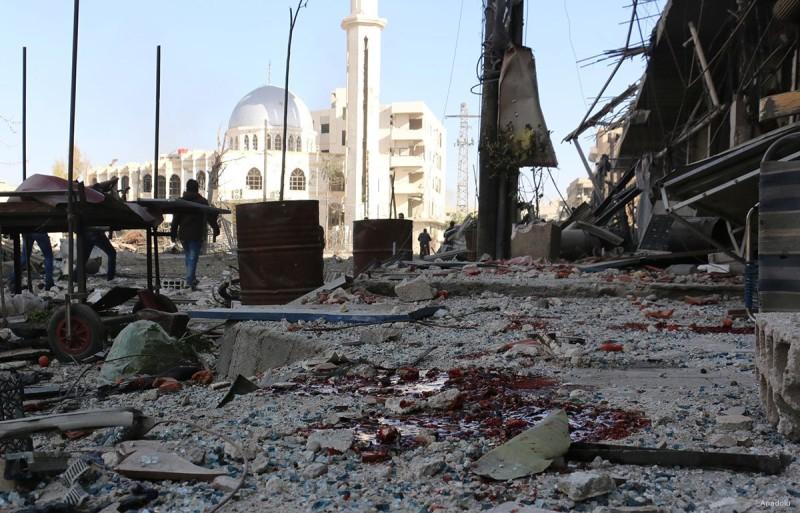 Hasil gambar untuk gambar reruntuhan di damaskus