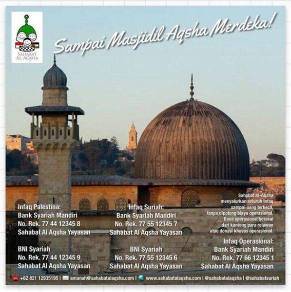 Poster Masjidil Aqsha (donasi)