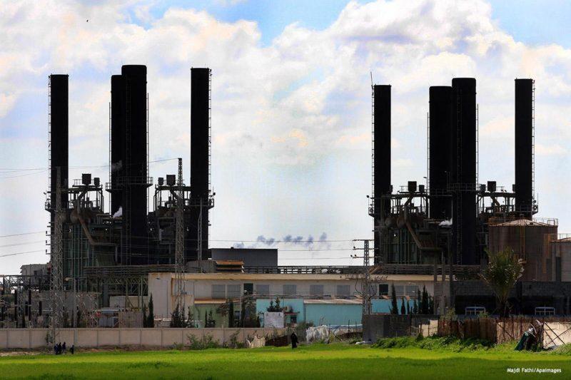 Pembangkit listrik yang membangkitkan listrik di Gaza. Foto: Majdi Fathi/Apaimages