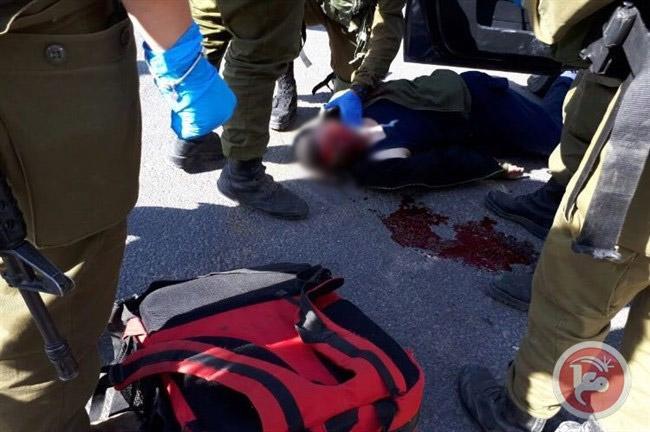 Foto yang dipublikasikan di media 'Israel' menunjukkan Suhaib Moussa Mashour Mashahra setelah ia ditembak oleh pasukan Zionis pada 19 April 2017. Foto: Ma'an News Agency