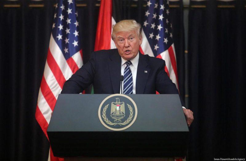 """Presiden AS Donald Trump: """"Ini tak lain hanya mengakui kenyataan."""" Foto: Issam Rimawi/Anadolu Agency"""