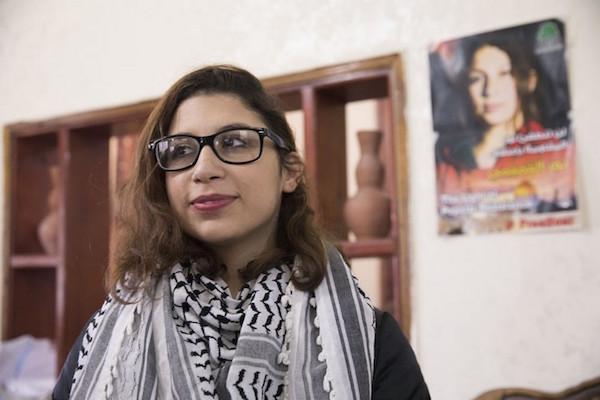 Nur Tamimi setelah bebas dari penjara, di rumahnya di Nabi Saleh, Tepi Barat, 5 Januari 2018. Foto: Oren Ziv/Activestills.org