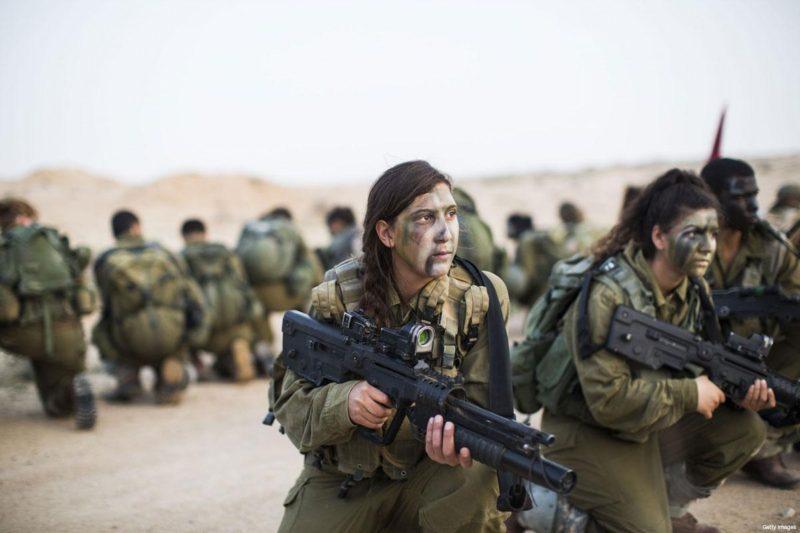 Serdadu wanita 'Israel'. Foto: Dokumentasi Middle East Monitor