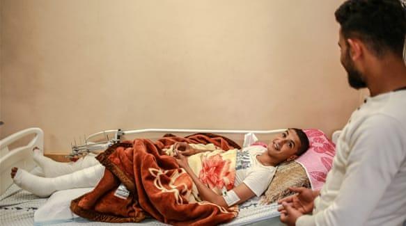 Marwan Yassin mengatakan ia dan temannya ingin meletakkan bendera Palestina di sepanjang perbatasan. Foto: Hosam Salem/Al Jazeera
