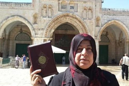 Aida Sidawi ditangkap serdadu Zionis karena memasuki kompleks Masjidil Aqsha. Foto: maannews.com