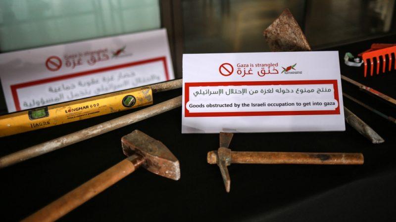 Palu juga termasuk barang yang dilarang masuk ke Gaza. Foto: Hosam Salem/Al Jazeera