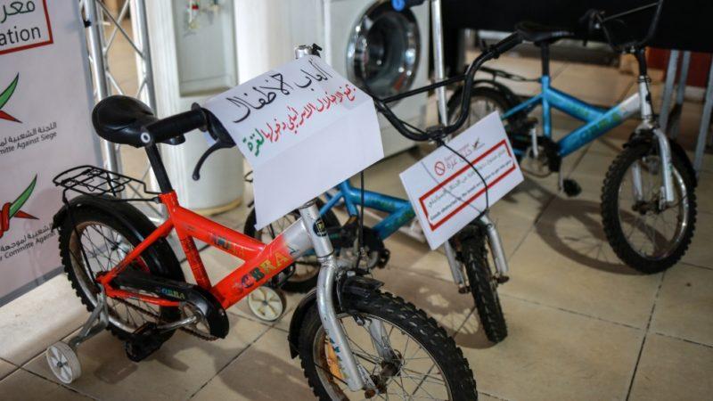 Sepeda anak-anak juga dilarang masuk Gaza. Foto: Hosam Salem/Al Jazeera
