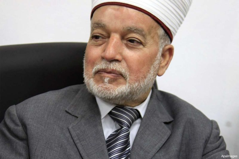 Mufti Besar Baitul Maqdis dan Palestina, Syaikh Mohammed Ahmed Hussein. Foto: Dokumentasi MEMO