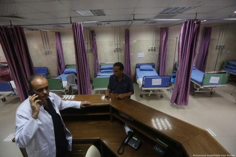 Sebuah rumah sakit di Gaza. Foto: Mohammed Asad/Middle East Monitor