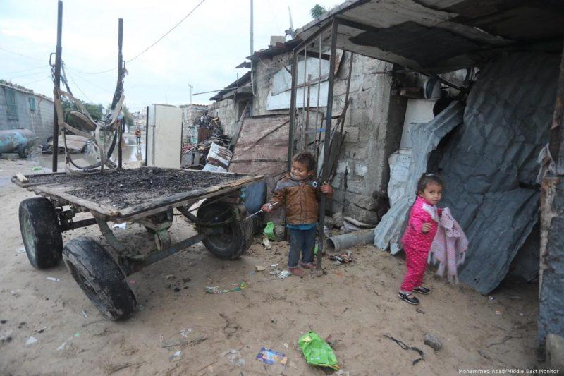 Anak-anak Gaza, 21 Januari 2018. Foto: Mohammed Asad/Middle East Monitor