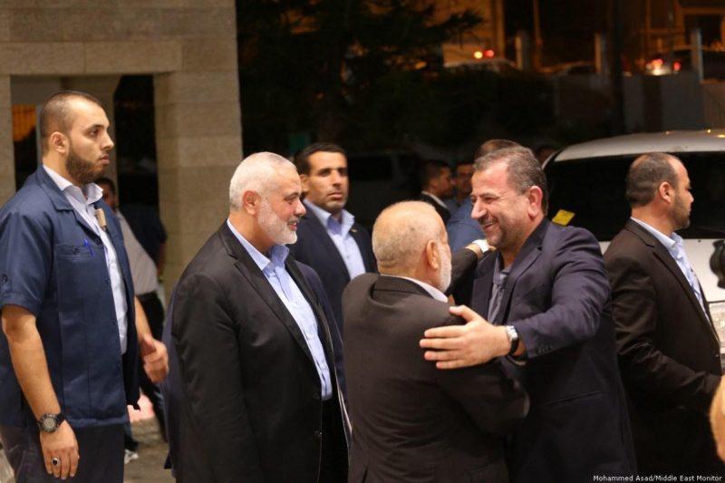 Para pejabat senior Hamas tiba di Gaza. Foto: Arsip Middle East Monitor