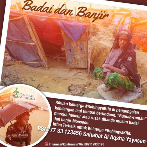 Poster Donasi Banjir Rohingya (13 Juli 2019)