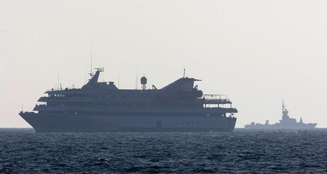 Pada 31 Mei 2010, kapal Mavi Marmara, kapal utama armada yang menuju Jalur Gaza diserang oleh gerombolan serdadu Zionis 'Israel' pada dini hari. Foto: AP