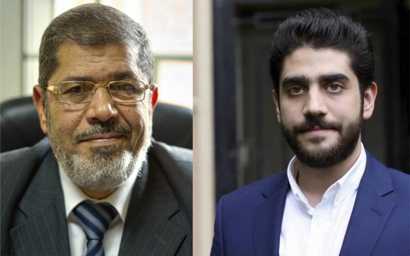 Abdullah Mursi, kanan, meninggal dunia karena serangan jantung 80 hari setelah kematian ayah tercintanya mantan Presiden Mesir Muhammad Mursi (kiri). Foto: AFP