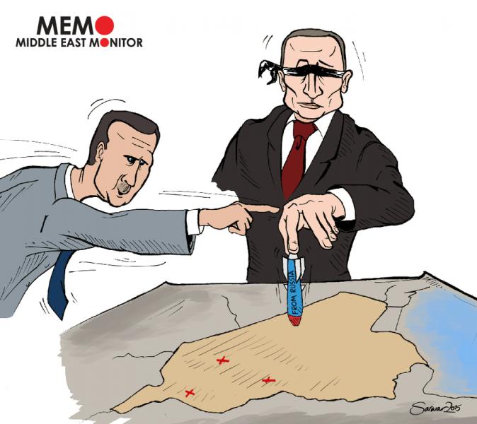 Putin serang Suriah dengan membabi buta. Foto: Middle East Monitor