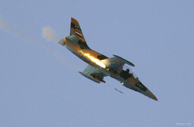 Pesawat tempur rezim Suriah. Foto: Arsip Middle East Monitor