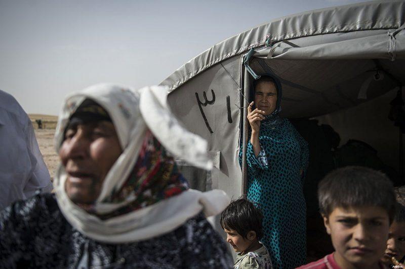 Muhajirin Suriah di sebuah kamp di Turki [Anadolu Agency]